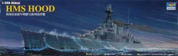military,scale model ship,HMS Hood Battleship -- Plastic Model Military Ship Kit -- 1/350 Scale -- #05302