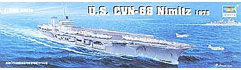 military,scale model ship,USS Nimitz CVN68 1975 Aircraft Carrier -- Plastic Model Military Ship Kit -- 1/350 Scale -- #05605